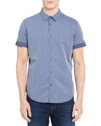 Calvin Klein - Striped Cotton Button-down Shirt - Lyst
