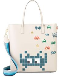Anya Hindmarch - Ebury Space Invaders Leather Tote - Lyst