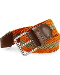 Bally - Perry Stripe Belt - Lyst