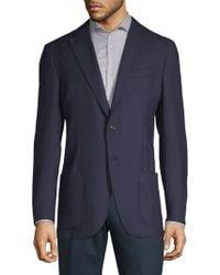 Luciano Barbera - Notch Wool Sports Coat - Lyst