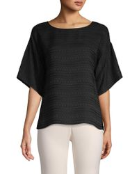 Vince Camuto - Short-sleeve Textured Top - Lyst