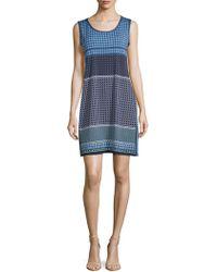 Max Studio - Printed Side-slit Sleeveless Dress - Lyst