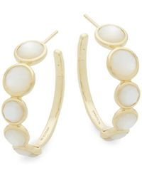Ippolita - Mother-of-pearl And 18k Yellow Gold Hoop Earrings - Lyst