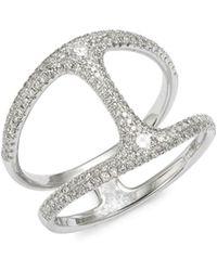 Saks Fifth Avenue - 14k White Gold & Diamond Cutout Ring - Lyst