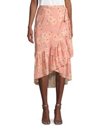 Love Sam - Floral Wrap Skirt - Lyst