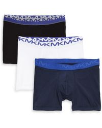 Michael Kors - Three-pack Logo Stretch Boxer Briefs - Lyst