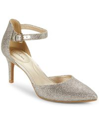 Bandolino - Ginata Shimmer Ankle Strap Pumps - Lyst