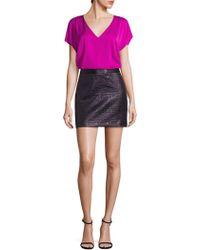MILLY - Mod Metallic Jacquard Skirt - Lyst