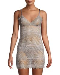 Samantha Chang - Embroidered Lace Chemise - Lyst