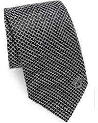 Versace - Curved Web Silk Tie - Lyst