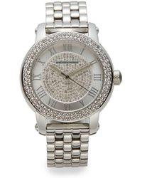 Saks Fifth Avenue - Jeweled Stainless Steel Bracelet Watch - Lyst