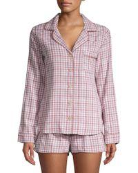 UGG - W Milo Check Cotton Pyjamas - Lyst