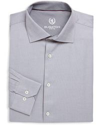 Bugatchi - Long-sleeve Cotton Dress Shirt - Lyst