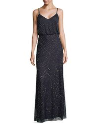 Adrianna Papell - Sequined Chiffon Gown - Lyst
