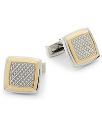 Saks Fifth Avenue - Two-tone Stainless Steel Cufflinks - Lyst
