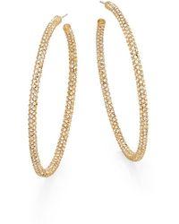 """Adriana Orsini - Jumbo Pavã© Earrings/1.25"""" - Lyst"""