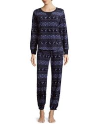 Jane And Bleecker - Graphic-print Pyjamas - Lyst