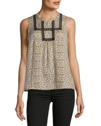 Rebecca Taylor - Printed Sleeveless Top - Lyst
