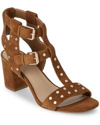 Saks Fifth Avenue - Leena Block-heel Suede Sandals - Lyst