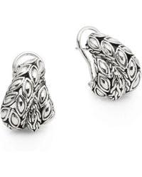 John Hardy - Padi Sterling Silver Overlap Earrings - Lyst