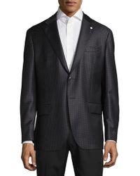 Lubiam - Plaid Wool Jacket - Lyst