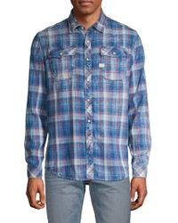 G-Star RAW - Plaid Long-sleeve Button-down Shirt - Lyst