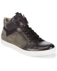 Kenneth Cole - Brand Finale Leather Sneakers - Lyst