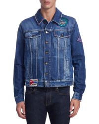Saint Laurent - Patches Denim Jacket - Lyst