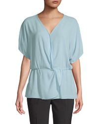 Vince Camuto - Dropped-shoulder Wrap Top - Lyst