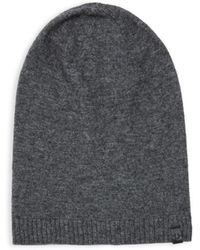 True Religion - Slouch Ribbed Beanie - Lyst