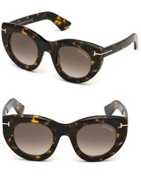 22181da2cd4 Tom Ford - Marcella 48mm Thick Cat-eye Sunglasses - Lyst