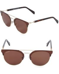 Balmain 52mm Clubmaster Sunglasses