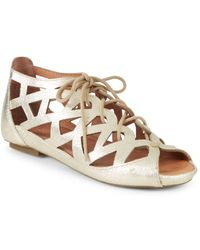 Gentle Souls - By Kenneth Cole Leather Sandal - Lyst