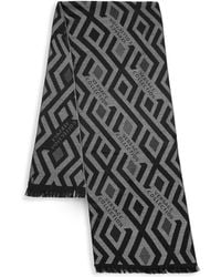 Versace - Frayed Printed Scarf - Lyst