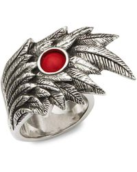 King Baby Studio - Wing Bead Sterling Silver Ring - Lyst