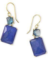 Ippolita Rock Candy 18k Gold Rectangular Drop Earrings