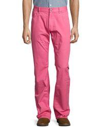Façonnable - Buttoned Cotton Jeans - Lyst