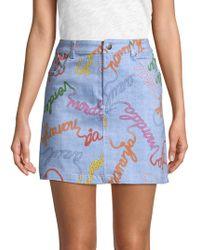 Lea & Viola - Wordy Denim Skirt - Lyst