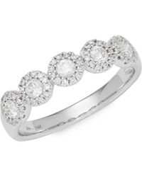 Saks Fifth Avenue - Diamond And 14k White Gold Ring - Lyst