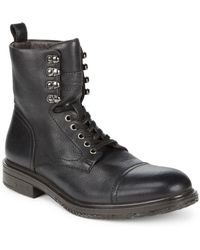 John Varvatos - Lace-up Leather Boots - Lyst