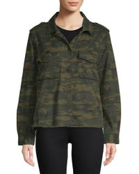 Sanctuary - In The Fray Camouflage Cotton Jacket - Lyst