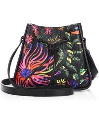 3.1 Phillip Lim - Soleil Mini Printed Leather Drawstring Bucket Bag - Lyst