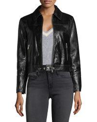 FRAME - Leather Buckle Back Jacket - Lyst