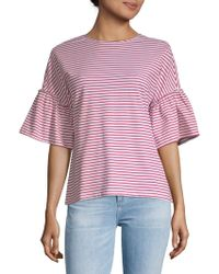 Beach Lunch Lounge - Flared-sleeve Cotton Top - Lyst