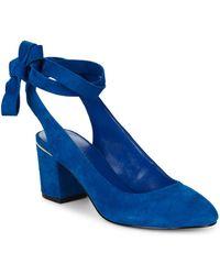Nine West - Andrea Ankle Wrap Suede Court Shoes - Lyst