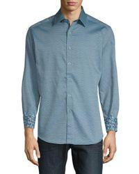 Robert Graham - Hess Printed Cotton Button-down Shirt - Lyst