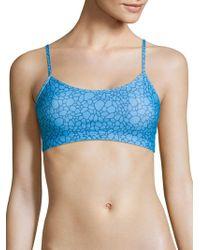 5be198ab78 Ivanka Trump Halter Bikini Top in Blue - Lyst