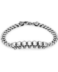 King Baby Studio - Sterling Silver Skull Beaded Bracelet - Lyst