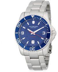 Victorinox - Stainless Steel Automatic Bracelet Watch - Lyst