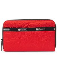 LeSportsac Taylor Punctured Logo Zip-around Wallet